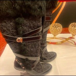 Baby Phat Knee High Embellished Boots